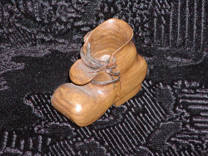 Small Wooden Man's Work Boot