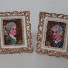 Vintage Doll House Furniture, Two Oil Paintings