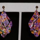 80's Splatter Painted Charm Earrings