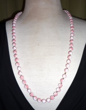 Retro Pink Rose Necklace