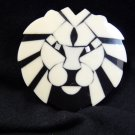 Small White and Black Lion Jewelry Finding