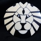 Large White and Black Lion Pendant