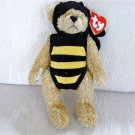 "Mint 1993 Ty ""Attic Treasures"" Beanie, ""Beezee Bear"", Teddy Bear in Bee Costume"