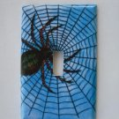 Single Switch Plate Cover, Spider and Web Design