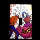 Single Switch Plate Cover, Day of the Dead Dancing Couple, Polka Dot Background