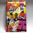 Single Switch Plate Cover, Day of the Dead Skeleton Couple Yellow Background