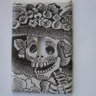 Single Switch Plate Cover, Black and White Catrina Image