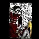 Single Switch Plate Cover, Day of the Dead Skeleton Proposing Couple Black and White Background