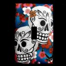 Single Switch Plate Cover, Day of the Dead Sugar Skulls with Flower Background
