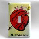 Single Switch Plate Cover, Loteria Card Heart Image