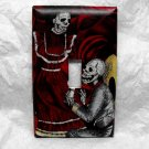 Single Switch Plate Cover, Day of the Dead Dancing Skeletons Proposing Print