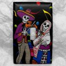 Single Switch Plate Cover, Day of the Dead Skeletons with Music Note Background