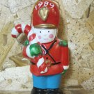 "Retro Christmas Ornament, Toy Solider with Candy Cane ""1989"""