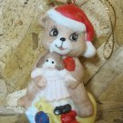Retro Christmas Ornament, Bear with Toys