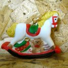Retro Christmas Ornament, Rocking Horse with Toys