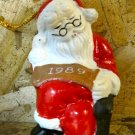"Retro Christmas Ornament, Sleeping Santa with ""1989"" Banner"