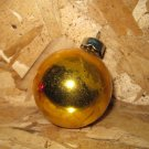 Vintage Christmas Ornament, Yellow Ball