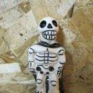 Ceramic Day of the Dead Figure, Man in Black Cloak