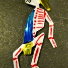 Hand Painted Tin Day of the Dead Figure, Man with Hat and Scarf