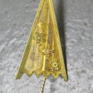 Small Vintage Gold Umbrella Pin
