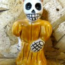 Ceramic Day of the Dead Figure, Woman in Yellow Dress