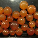 Small Retro Orange Stone Beads, 48 Pieces