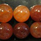 Medium Retro Orange Stone Beads, 6 Pieces