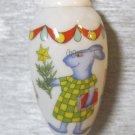 Retro Hutschenreuther Christmas Ornament, Rabbits at School