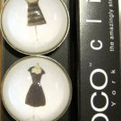 Set of Four Little Black Dress Magnets