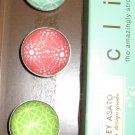 Set of Five Colorful Patter Print Magnets