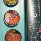 Set of Five Star Patter Print Magnets