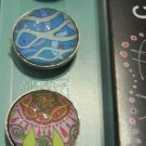 Set of Five Colorful Patter Print Magnets, Swirl