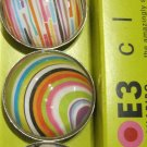 Set of Four Colorful Different Pattern Print Magnets
