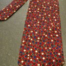 Retro Christian Dior Neck Tie, Red Background with Square Print