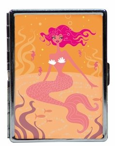 Double Sided Metal ID Case with Mermaid Picture