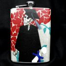 Stainless Steel Flask - 8oz., Day of the Dead Skeleton Graduate