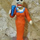Clay Day of the Dead Figure, Female Singer in Orange