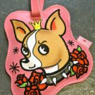 Vinyl Chihuahua Tattooed Pooch Luggage Tag