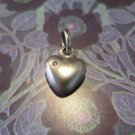 Real Silver Heart Pendant with Diamond