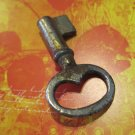 "Vintage ""Antiqued"" Silver Colored Key, Great Jewelry Finding"