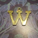Gold Tone Letter &quot;W&quot; Charm