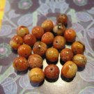 Retro Orange and Brown Marbled Colored Beads