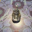 Silver Plated Tutankhamen Bust Pendant