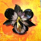 Black and Purple Flower Pendant