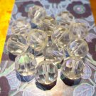 Vintage Round Cut Crystal Beads, 12 Pc