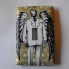 Single Switch Plate Cover, Lucha Libre Man in Suit with Wings
