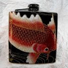 Stainless Steel Flask - 6oz., Koi Fish with Black Background