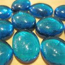 Dark Teal Blue Round Glass Stones