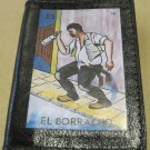 "Hand Decorated Black Mini Wallet, Loteria Image ""El Borracho"" Print"