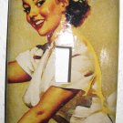 Single Switch Plate Cover, Pin Up Girl Nurse